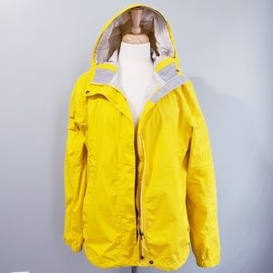 LL Bean Yellow Rain Coat Jacket Lightweight